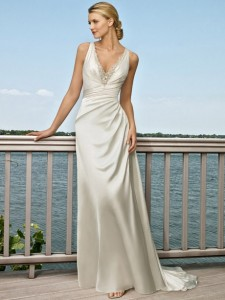 beach wedding dress de173