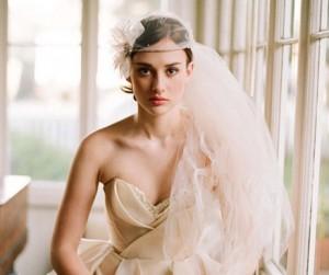 white wedding veil