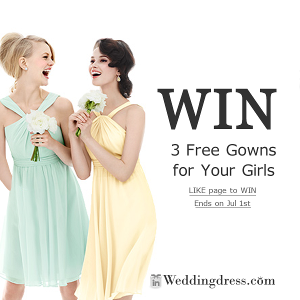 win bridesmaid dresses