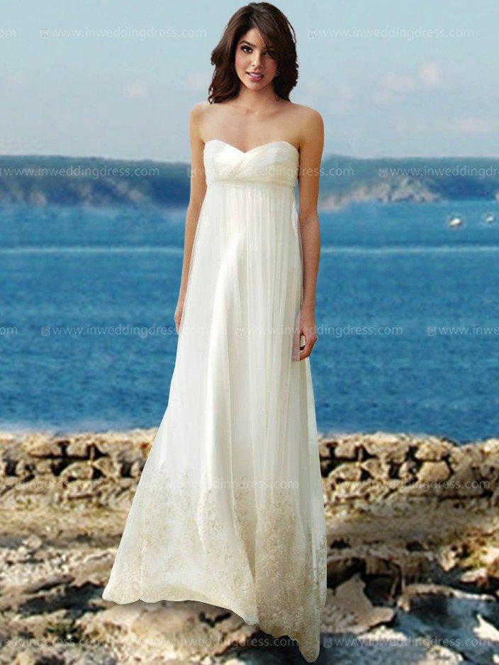 Informal Beach Wedding Dresses With Quick Shipping - Flower Girl Dresses
