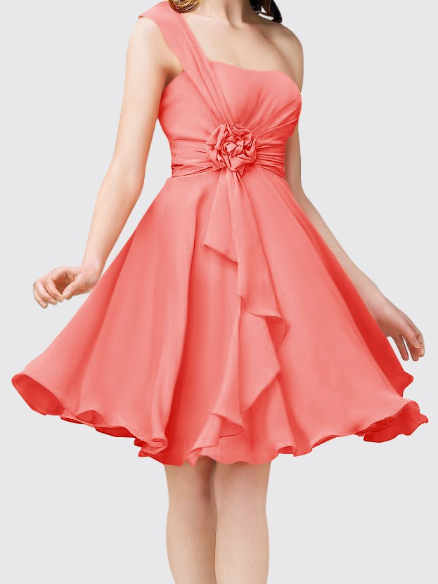 One-Shoulder Casual Bridesmaid Dress $102