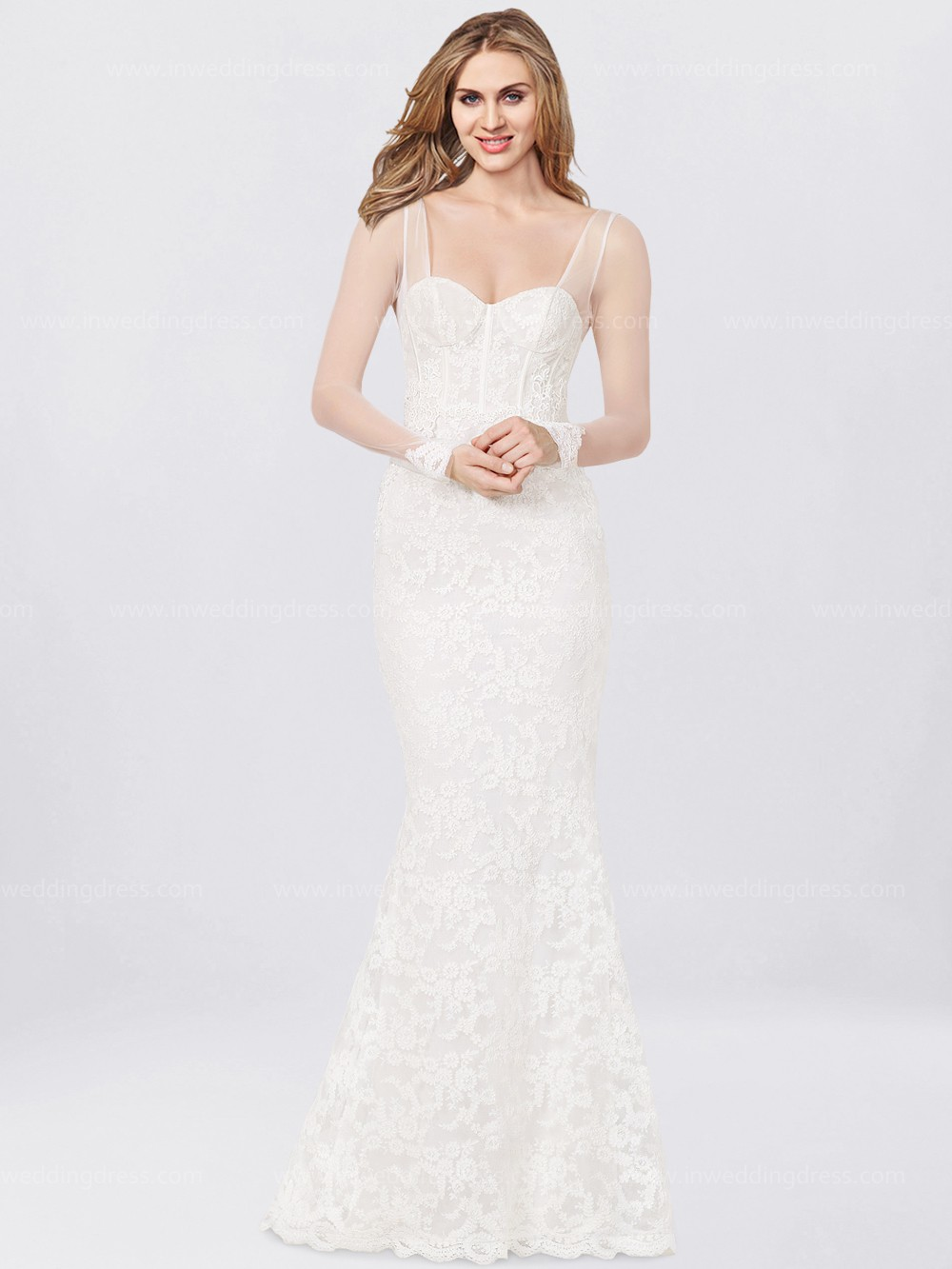 Long Sleeves Lace Wedding Dress £218