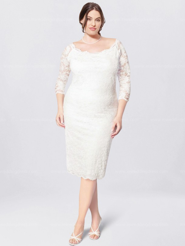 Plus Size Lace Wedding Dress $224