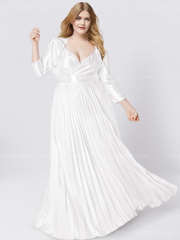 Off The Shoulder Plus Size Wedding Dress 219