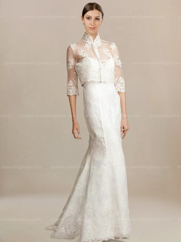 Vintage Wedding Gown with 3/4 Sleeves Jacket $298