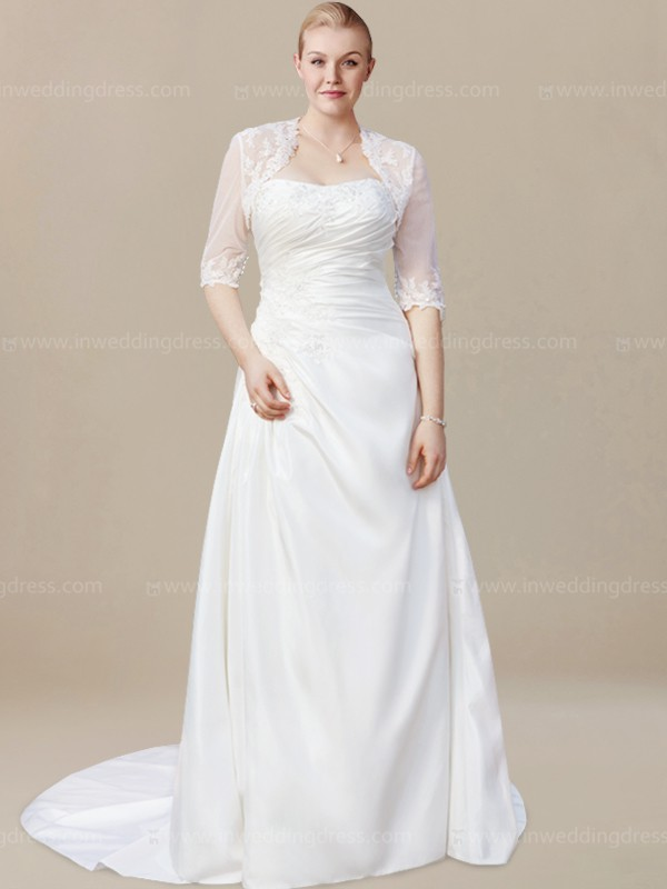 Modest Plus Size Wedding Gowns $225